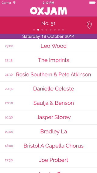 Oxjam Bristol Takeover - 2014 festival programme