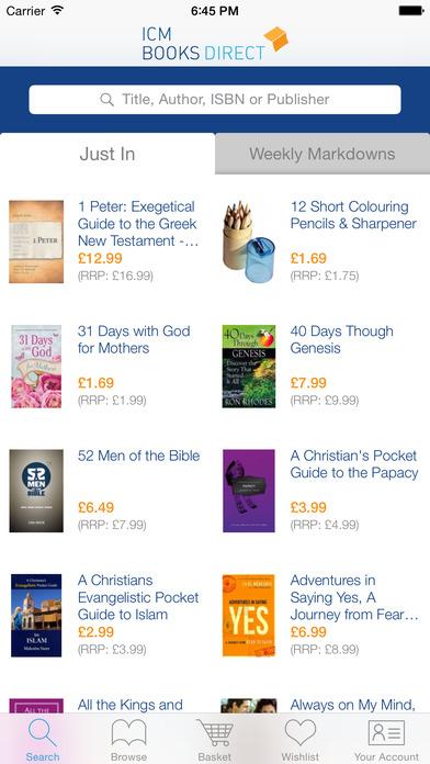 ICM Books iPhone Screenshot 1