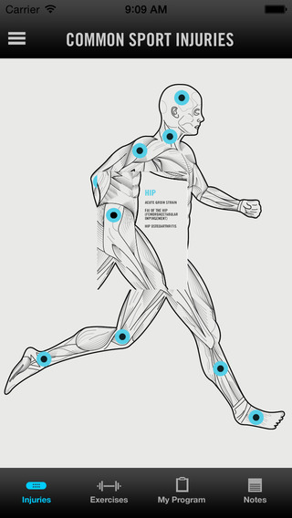 Sport Injuries Avoid - Fitness body excercise with video tutorial