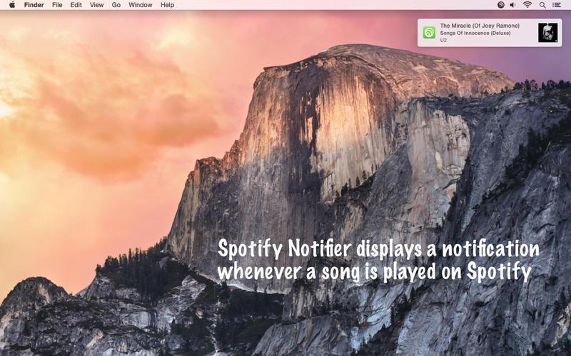 Spotify Notifier Screenshot - 1
