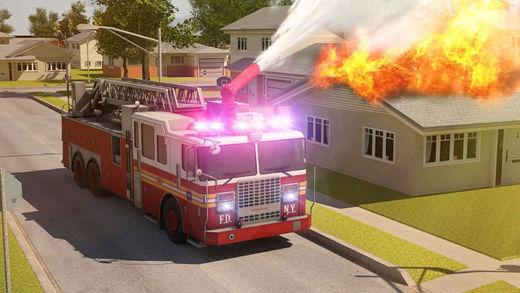 3D Fire Truck Parking - eXtreme Emergency Firetruck Simulation Driving Games