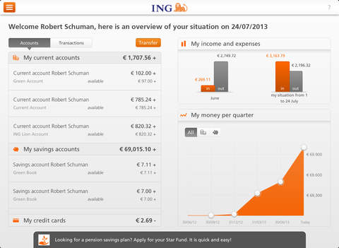 ING Smart Banking for Tablets