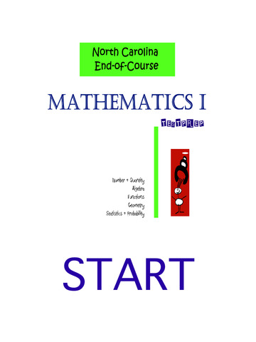 North Carolina EOC Mathematics I TestPrep