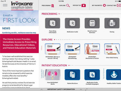 INVOKANA® canagliflozin HCP Central Healthcare Provider Prescribing Tools Information and Patient Ed
