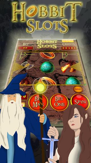 Hobbit's Gold Journey Slot-Machine Earth Battle with Lucky Bonus Spin Jackpot Win