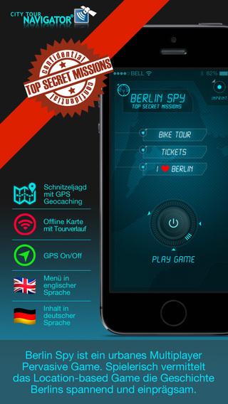 Berlin Spy: Urbane GPS-basierte Schnitzeljagd mit Quiz und virtuelle Audio-Video Caches Offline Spie