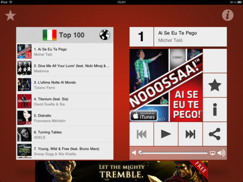 Music top 100's hits iPad Screenshot 4