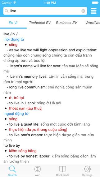 ENVIDICT - English Vietnamese English Dictionary - Từ điển Anh Việt Anh Anh Việt Anh