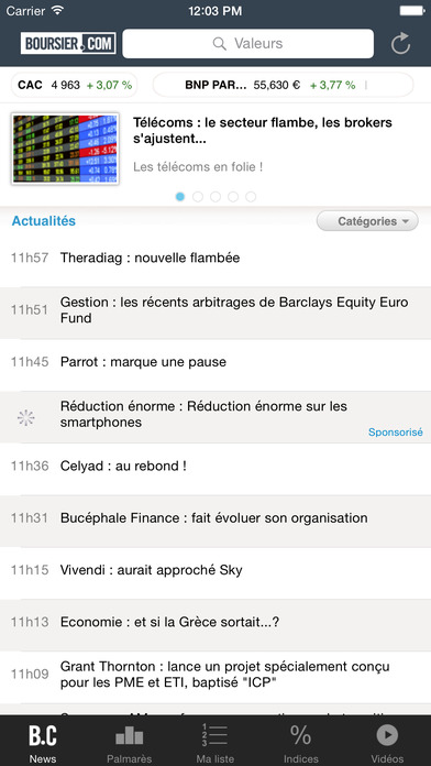 Boursier.com iPhone Screenshot 1