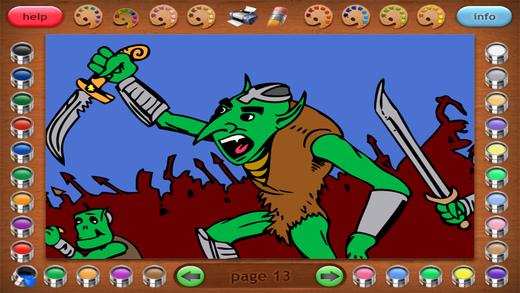 Coloring Book 20 Lite: Gears vs Goblins