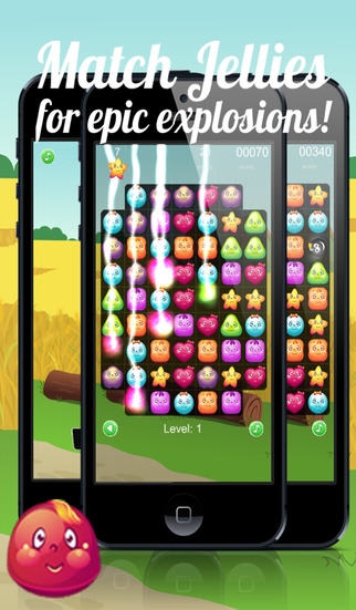 Jelly Rescue Mania - A top free match 3 jellys splash game
