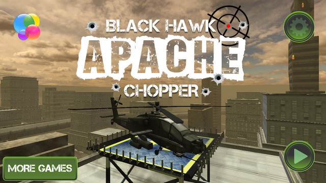 Black Hawk Apache Chopper - RC Control Helicopter Flight Land Parking Simulator
