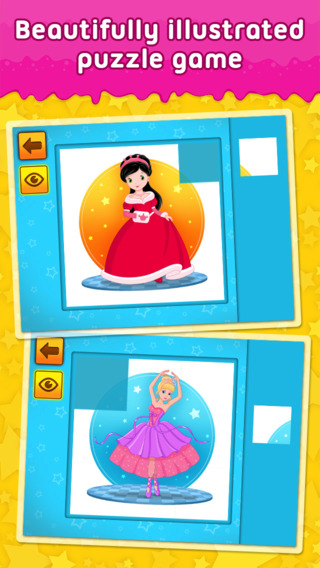 Princesses Mermaids and Fairies: 2 - puzzle game for little girls and preschool kids