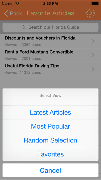 Florida Guide iPhone Screenshot 5