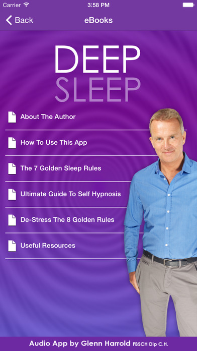 Instant Sleep by Glenn Harrold; a Self-Hypnosis Meditation for Relaxation iPhone Screenshot 4