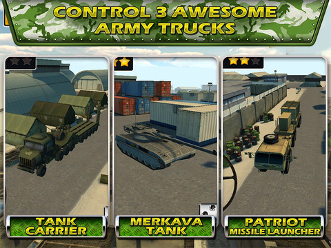 Tank Parking Blitz Race with Heavy Army Trucks, Missile launcher and Tanksscreeshot 2