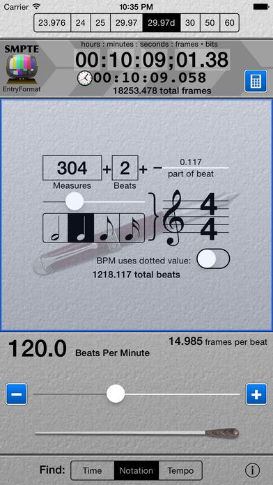 SMPTE Score iPhone Screenshot 1
