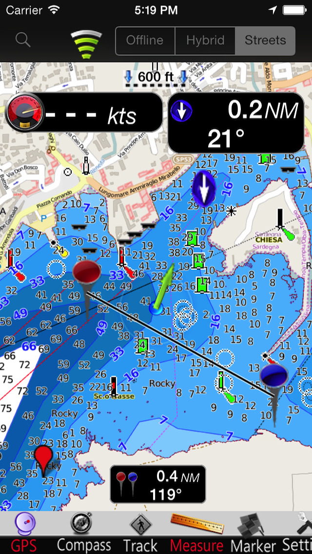 Sardinia GPS Nautical charts