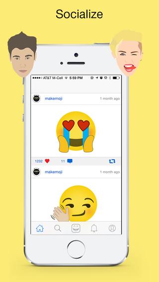 Makemoji - free social messaging emoji app