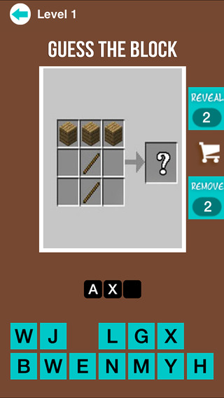 Guess The Block - Trivia Quiz Game For Minecraft Fans