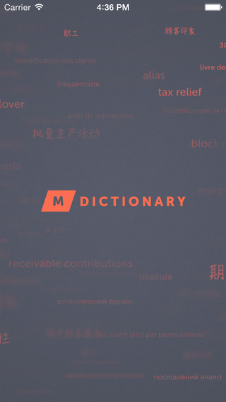 MDictionary – English-Japanese Finance Banking and Accounting Dictionary with categories. MDictionar