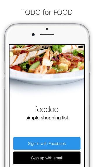 FooDoo - Shopping list