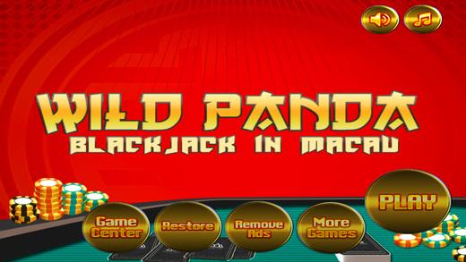Wild Panda Blackjack in Macau Casino
