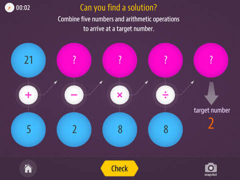 Math Ops Challenge: Target Number Screenshot