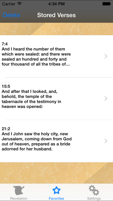 Revelation - Random verses from last book of the Bible iPhone Screenshot 2