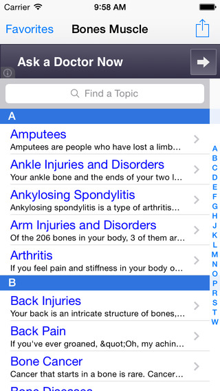 Bones, Joints & Muscles iPhone Screenshot 1