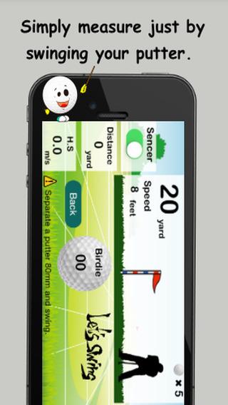 Putting Golf Simulator Birdie Maker -Golf Putter Training Games-