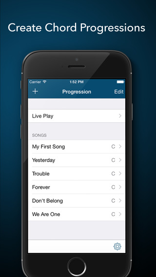 Progression - Chord Progression Song Builder for Songwriters