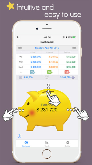Thumb moneybook Personal finance manager Free