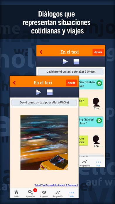MosaLingua Francés: Aprender Francés rápidamente (Español ► Francés) iPhone Screenshot 3