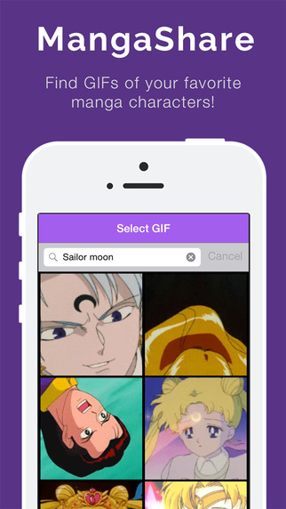 MangaShare - Find Anime GIFs like from Ryuk or Spike Spiegel and share anywhere