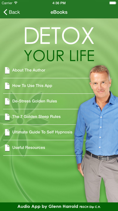 Detox Your Life by Glenn Harrold: A Self-Hypnosis Affirmation Meditation iPhone Screenshot 4