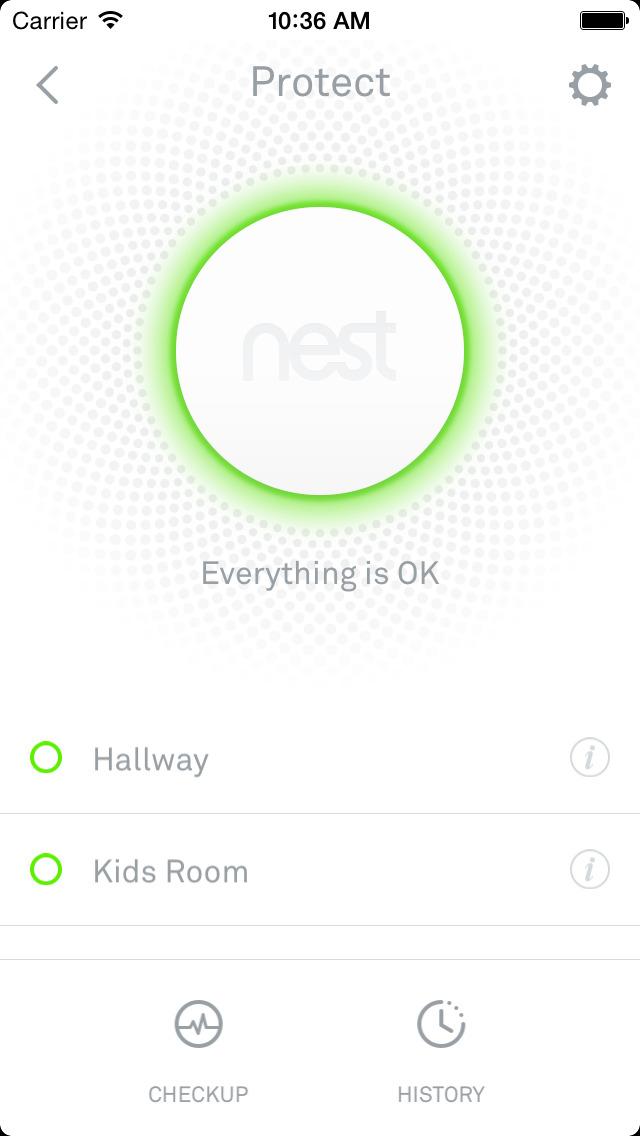 Screenshots of Nest for iPhone