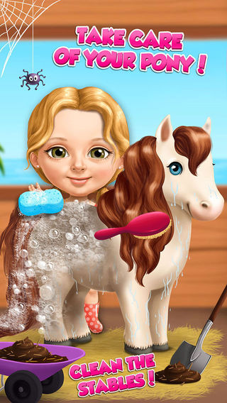 Sweet Baby Girl Summer Fun - Dream Seaside Spa and Pony Care