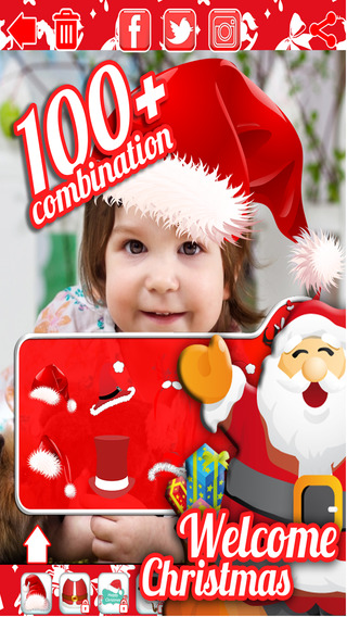Christmas Santa Photo Sticker - Top Free Best Xmas Camera Holiday FX Effects App