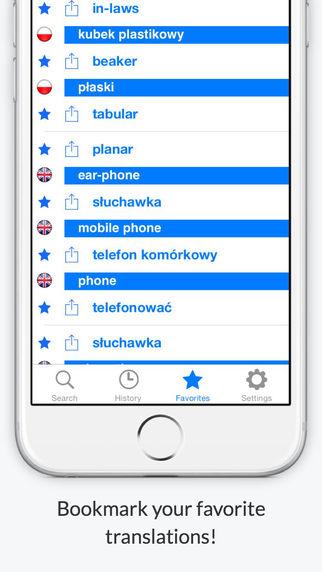 玩免費書籍APP|下載Offline English Polish Dictionary FREE (Angielsko Polski Słownik Bezpłatne) app不用錢|硬是要APP