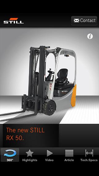 STILL RX 50 electric forklift truck iPhone Screenshot 1
