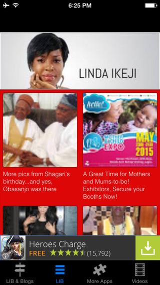 Great App for Linda Ikeji Blog and Bella Naija