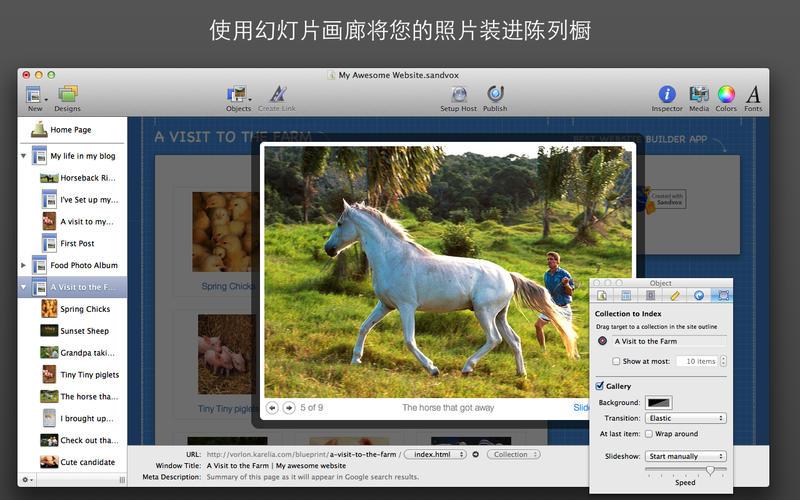 Sandvox for Mac 2.10.8 破解版 - 可视化网站设计工具