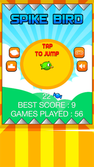 Spike Bird - Keep Jumping fly Don't touch spike