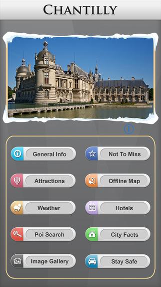 Chantilly Offline Map Travel Explorer