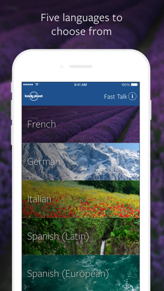 Fast Talk by Lonely Planet - Phrasebook with Spanish Italian French German and Latin American Spanis