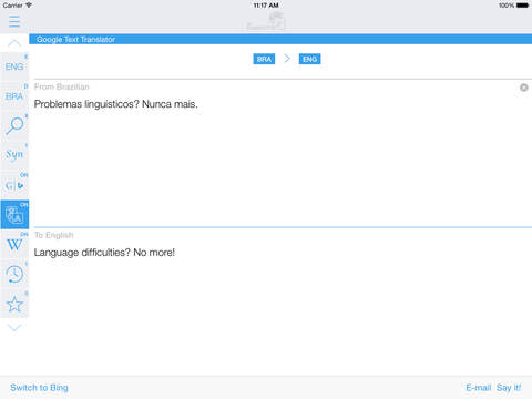Brazilian English Dictionary & Translator iPad Screenshot 3