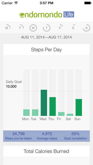 Endomondo Life - Pedometer Daily Activity Log Step Counter Weight and Calorie Tracker made Simple
