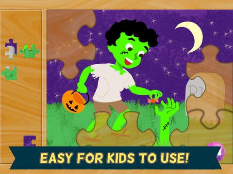 Хэллоуин Пазлы для детей  2: призраки, Зомби и ведьмы.Игры для малышей, мальчиков и девочек