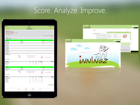 inningZ Cricket Scorer iPad Screenshot 1